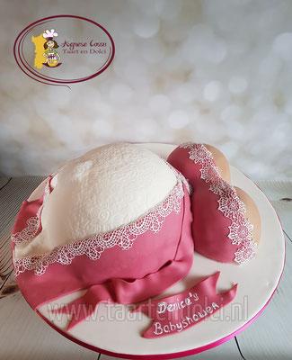 Zwangere buik taart babyshower
