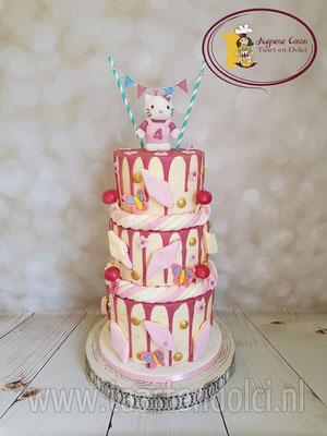 Hello Kitty dripcake