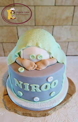 Babybillen babyshower taart