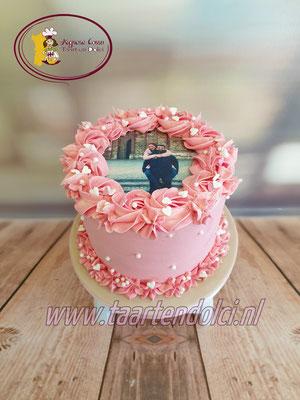 Foto taart zonder fondant