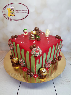 Dripcake kerst