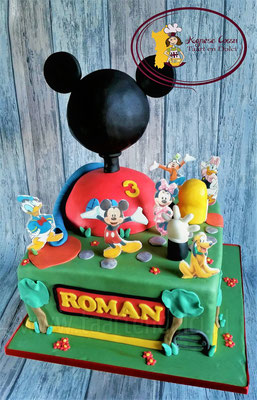 Mickey Mouse clubhuis taart