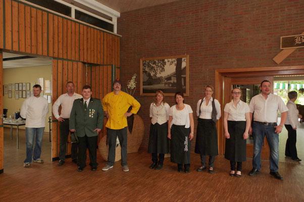 Das Küchen und Serviceteam