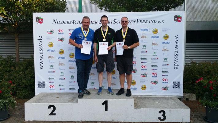 Siegerehrung Landesmeister 100m KK