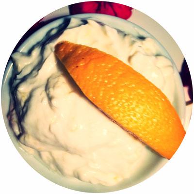 Orangen-Quark-Maske