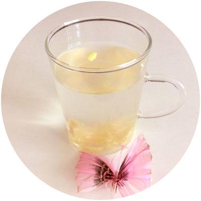 Aufguss Ingwer-Zitronengetränk