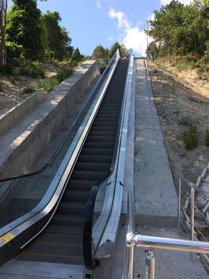 Rolltreppe in die Natur