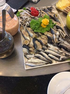 Buffet im Gergana Beach