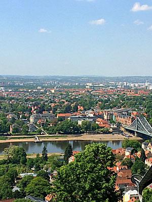 Blick auf das Dresdner Elbtal