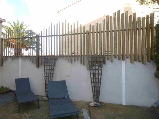 brise vue en bois pour jardins et terrasses montpellier. Black Bedroom Furniture Sets. Home Design Ideas