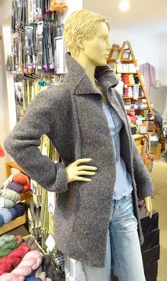 4. Lange kuschlige Jacke - Qual. Cool Air, Lana Grossa