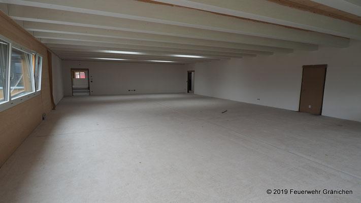Teorieraum im 1.Obergeschoss mit Blick nach vorne