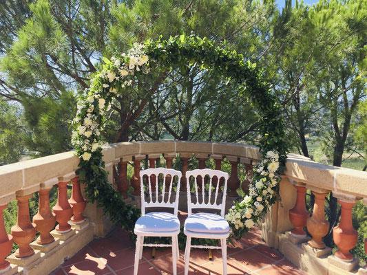 Crédit Photo : Chris Jepson - Mariage organisé et décoré par Audrey Mauro Wedding Planner