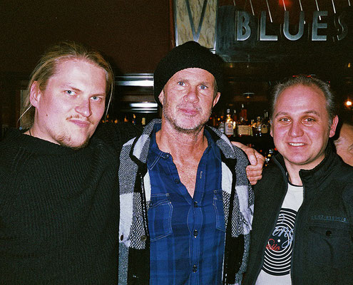 With Chad Smith from RHCP and JR