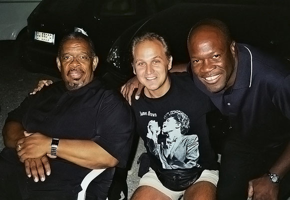 With JB-Trombonist Fred Wesley & Drummer Bruce Cox