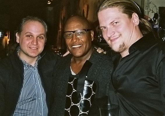 With the ONE & ONLY AWB-Groove-Machine Steve Ferrone und JR