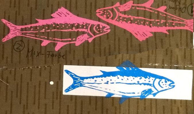 Musterdruck Fische