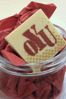 Schokolade Siebdruck mehrfarbig