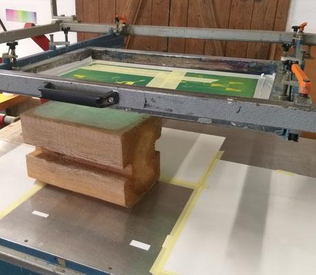 Einhandrakelmaschine Holz bedrucken