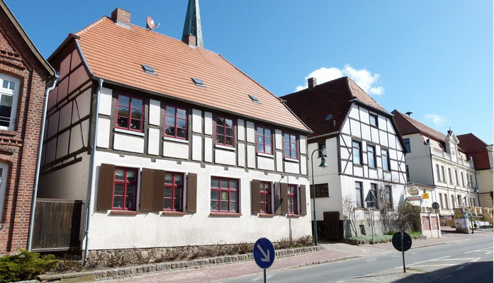 Schön sanierte Fachwerkhäuser in der Hauptstraße