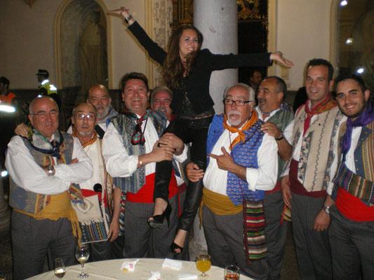 Convivenvias con las candidatas a Bellea del Foc 2011 en Granada.