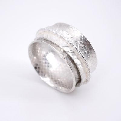 Dreiteiliger Silberring