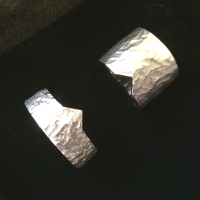 Palladiumweißgoldringe