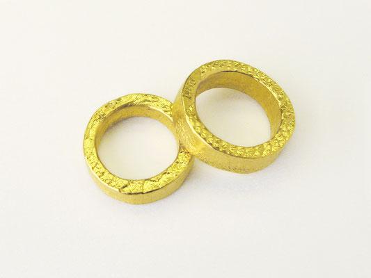 Ossa S.-Ringe: Feingoldringe aus 999,99er Gold