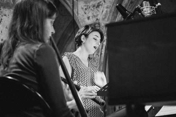 Ensemble Philomèle, during recording