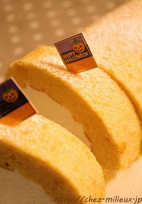 パンプキンロールケーキ