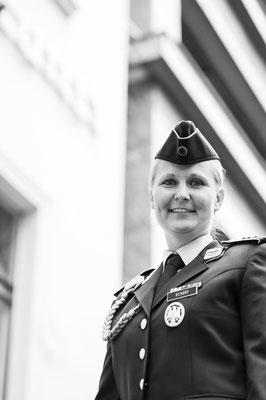 """Veteran Insa Eckert beim Fotoshooting """"Gesichter des Lebens"""""""