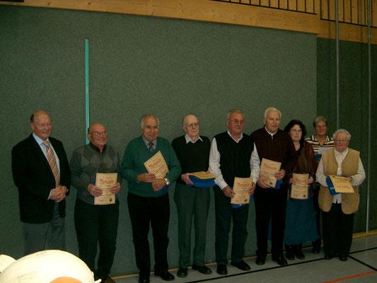 Ehrung passiver Mitglieder 2008