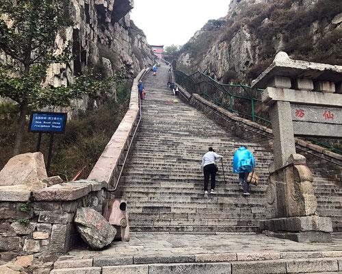 Mt. Tai - final steps