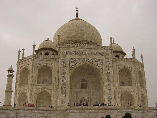 Taj Mahal -  N E corner in late afternoon