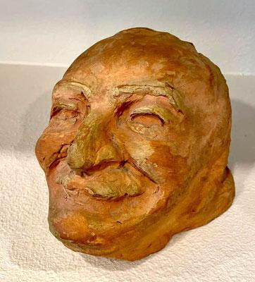 Bust sculptured by Diane Dimpfl . Courtesy of Buzz & Ginger Glasky
