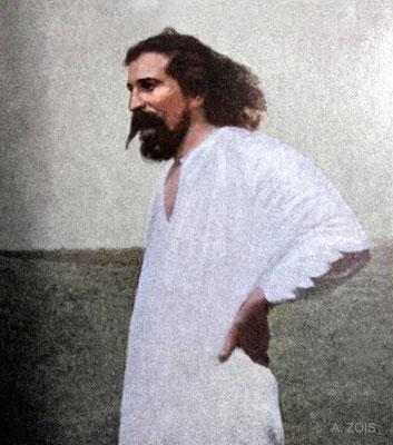 1930 : Meherabad, India.  Image colourized by Anthony Zois.