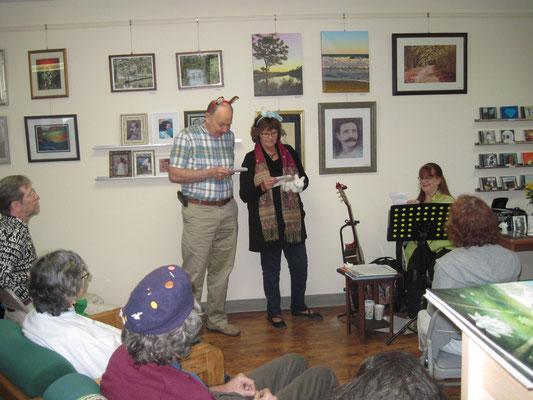 Jonathon Burroughs & Diane Holmes join Raine performing a play