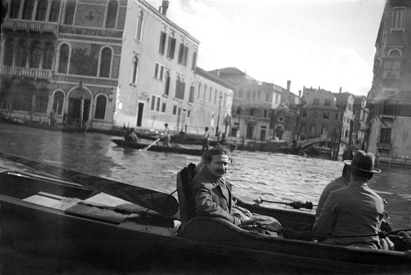 Baba in a gondola with Kaka Baria & Adi K Irani - 5th April, 1932