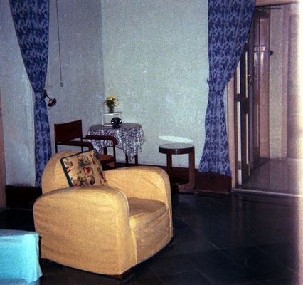 1969 : Baba's chair at Guruprasad . Image courtesy of Teri Adams