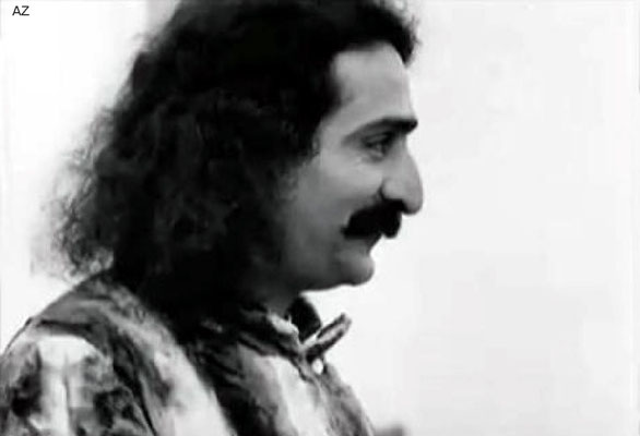 1932 : Meher Baba in New York. Image taken from a film and edited by Anthony Zois