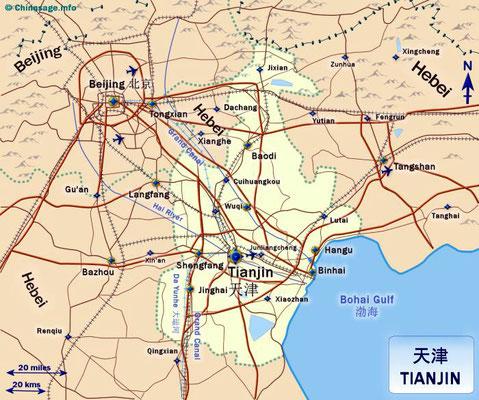 TIENTSIN map