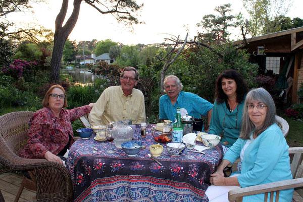 Lunch at Nth Myrtle Beach - April 2015 ; ( L-R )  Valerie Mc Kean, Alex, Jeff Wolverton & Sher DiMaggio Zois ( far right )