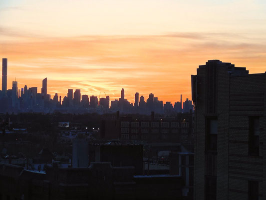 Sunset in New York City