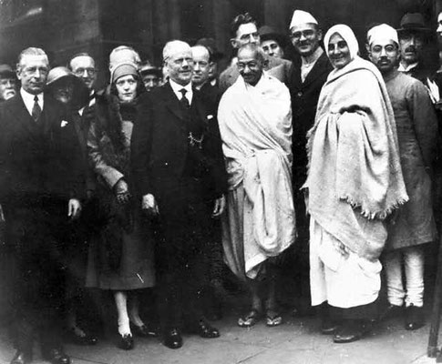 Gandhi at the Round Table Conference in London