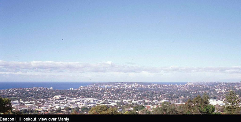 Recent view from Beacon Hill towards Manly