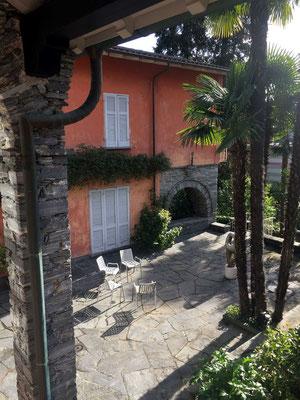 The house where the women mandali stayed upper floor in Solduno, Ticino, Locarno
