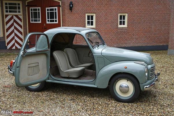 Example of a 1950 Fiat Topolino