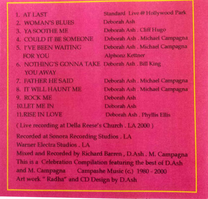 CD Back cover