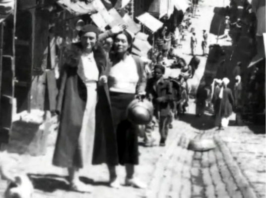 """Margaret & Mabel Ryan in Rawalpindi, Br.India ( now Pakistan ). Courtesy the video """" I am the One Reality, Meher Baba"""""""