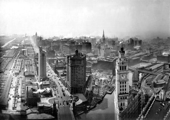 Chicago Skyline, ca. 1925